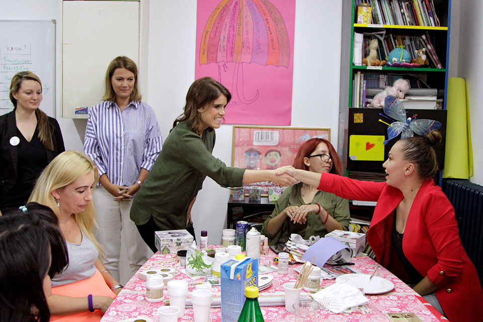 Press release: Her Royal Highness Princess Eugenie of York visits UN Trust Fund grantees in Serbia
