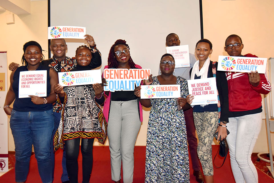 Youth delegates during the youth consultative meeting on Beijing +25. Photo/UN Women