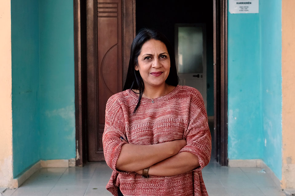 "Fatmira Dajlani leads the ""Roma Gateway for Integration"" organization in Fushe Kruje, Albania . Photo: UN Women/Parllaku"