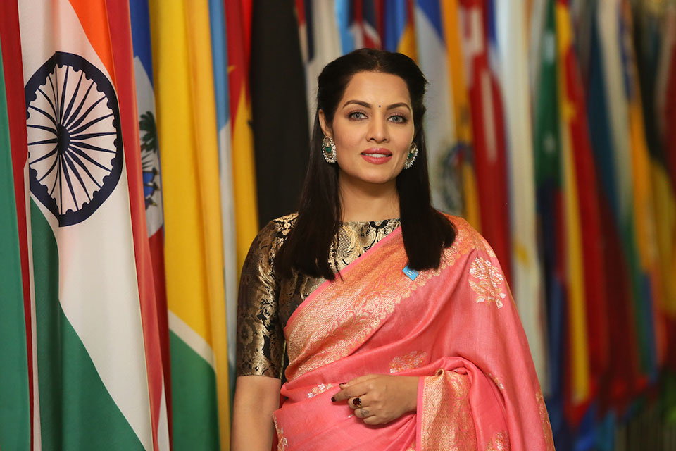 Celina Jaitly, acclaimed Indian actress. Photo: Stuart Ramson for OHCHR