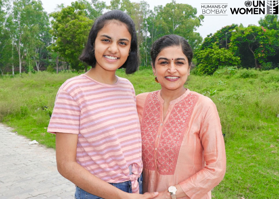 Ananya Banerjee with her mother. Photo: Humans of Bombay