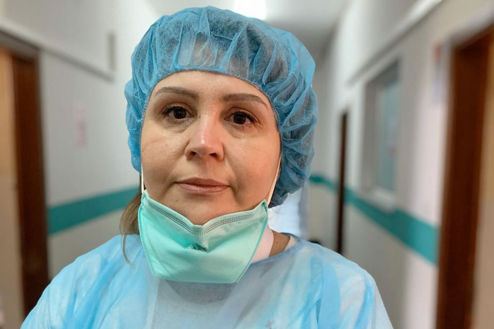 Entela Kolovani is a doctor in Tirana, Albania and currently works with patients diagnosed with COVID-19. Photo courtesy of Entela Kolovani.