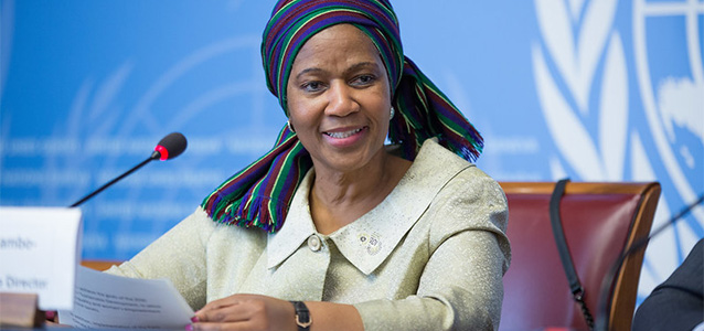 UN Women Executive Director Phumzile Mlambo-Ngcuka speaks,