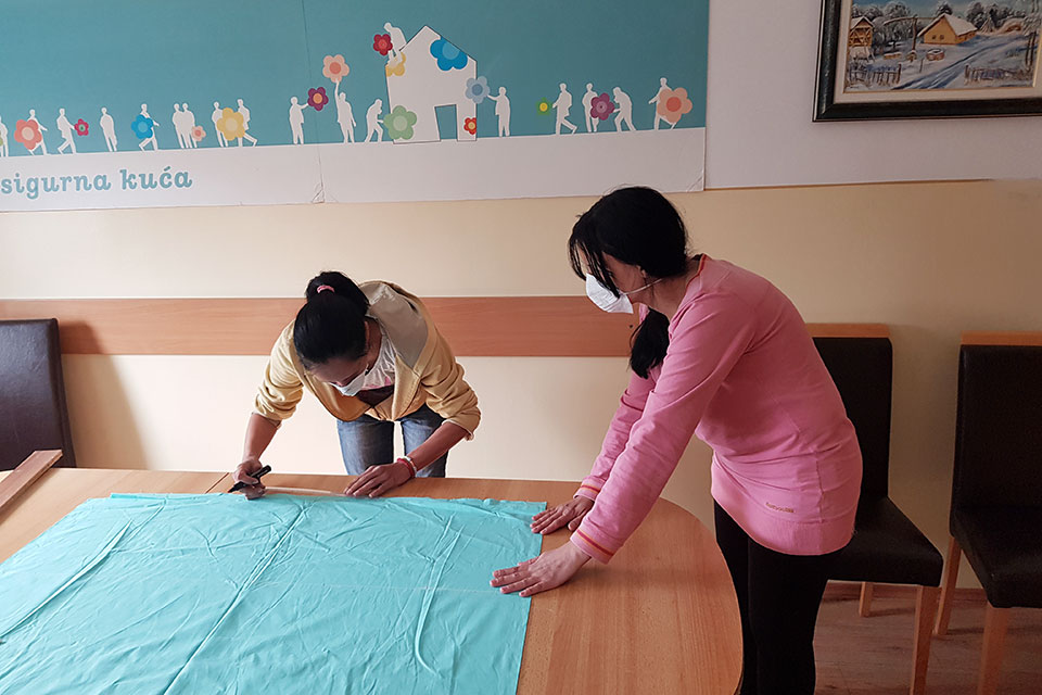 In a Serbian town, survivors of domestic violence are sewing face masks for those in the front line of COVID-19 response