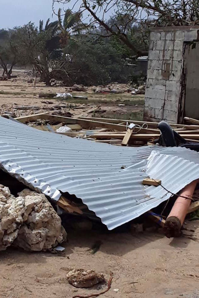 In Tonga, one of centres' branches on the island of 'Eua was destroyed by Category 5 Tropical Cyclone Harold in April 2020. Photo: 'Ofa Guttenbeil-Likiliki .