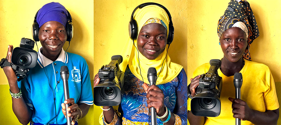 """During trainings in Uganda, women from the refugee community made a video called  """"South Sudanese women have a voice."""" Photo: UN Women"""
