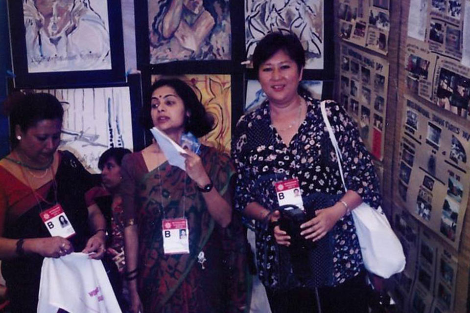 Asiya Khairullina at the Fourth World Conference on Women in 1995. Photo Courtesy Asiya Khairullina