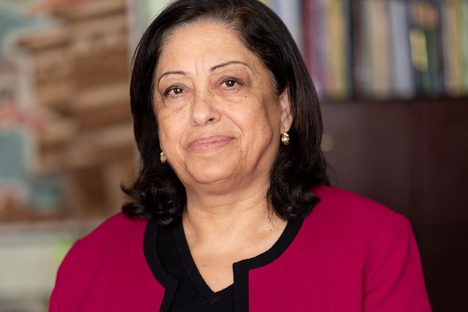 Asma Khader, chief executive of the Sisterhood Is Global Institute (SIGI) in Jordan.  Photo: UN Women/Christopher Herwig