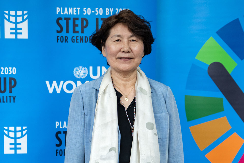 Women's rights activist Heisoo Shin. Photo: UN Women/Pairach Homtong