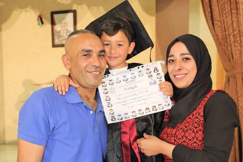 Ilham Edaes and Amer El Farrargy with their son Majd at his pre-school graduation.  Photos Courtesy Ilham Edaes and Amer El Farrargy