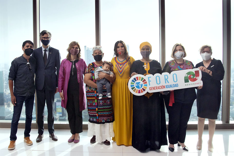 The Generation Equality Forum Mexico concluded today with the unveiling of an Action Coalition blueprint and of new catalytic commitments for gender equality.  Photo: UN Women/Dzilam Méndez
