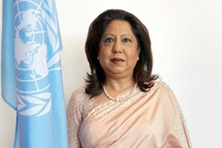 Under-Secretary-General Pramila Patten  Photo: Office of the Special Representative of the Secretary-General on Sexual Violence in Conflict