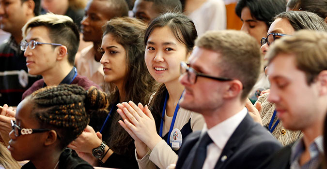 The opening of the Youth Forum at the 60th session of the Commission of the Status of Women, 11 March 2016 in New York. Photo: UN Women/Ryan Brown