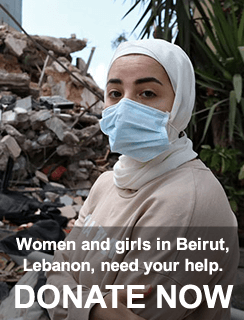 Women and girls in Lebanon need your help - DONATE NOW!