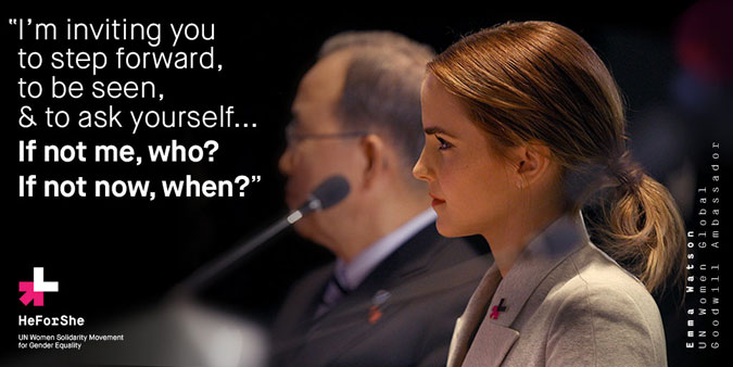 Press release: UN Women Goodwill Ambassador Emma Watson calls out to men and boys to join HeForShe campaign