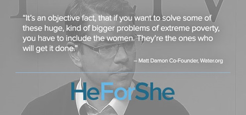 #HeforShe Matt Damon quote