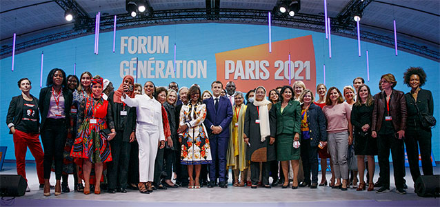 Participants in the Generation Equality Forum in Paris