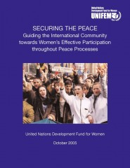 Securing the Peace: Guiding the International Community towards Women