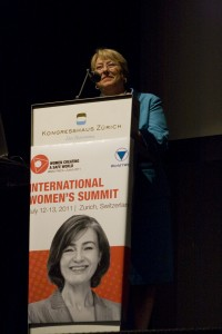 Ms. Bachelet at the World YWCA Council 2011