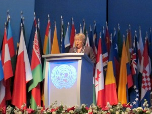 UN Women Executive Director Michelle Bachelet addresses the opening session of the 4th UN Conference on the Least Developed Countries