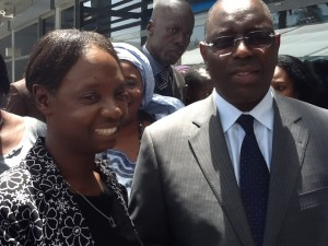 UN Women in West Africa Regional Director Josephine Odera for with president elect Macky Sall. Photos UN Women