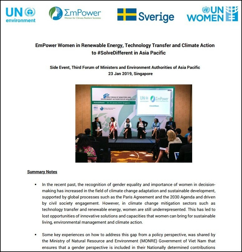 Empower Women in Renewable Energy