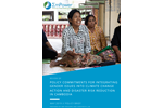 Review of Policy Commitments for Integrating Gender Issues into Climate Change Action and Disaster Risk Reduction in Cambodia