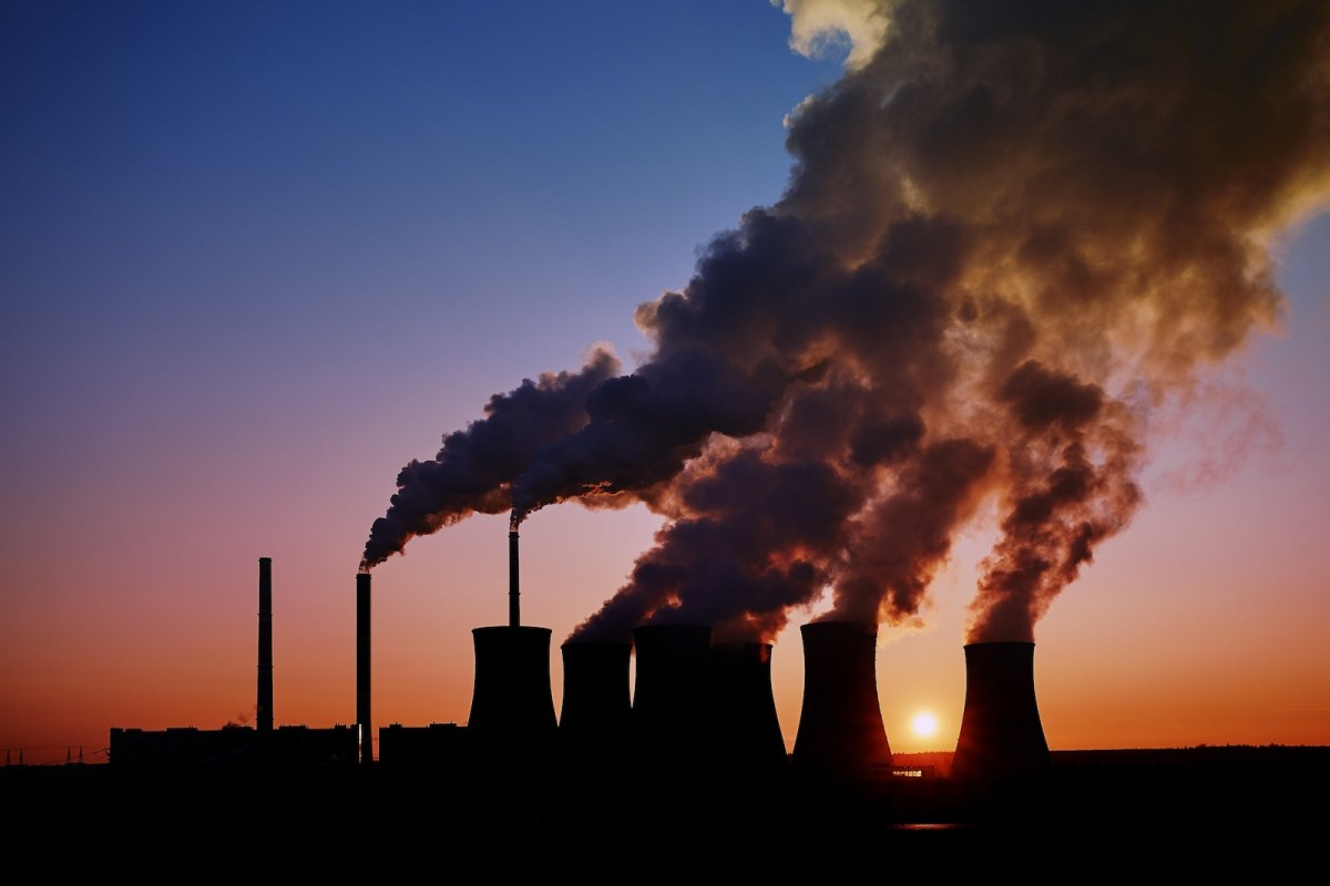 Coal fired power station silhouette at sunset. Photo: iStock