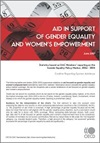 Aid in Support of Gender Equality and Women's Empowerment