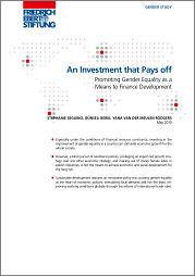 An Investment that Pays off: Promoting Gender Equality as a Means to Finance Development
