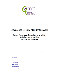"""Engendering EU General Budget Support: GRB as a tool for fostering gender equality..."""