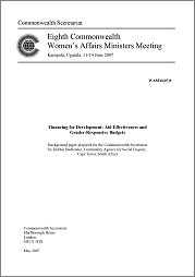 Financing for Development: Aid Effectiveness and Gender-Responsive Budgets