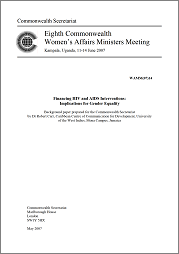 Financing HIV and AIDS Interventions: Implications for Gender Equality