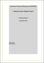 Gender Analysis of Uganda's Budget 2003-2004