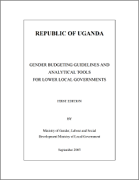 Gender Budgeting Guidelines and Analytical Tools at local level in Uganda
