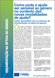 How Can Aid be Gender Responsive? (Portuguese)