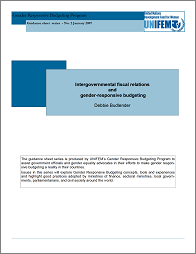 Intergovernmental fiscal relations and gender-responsive budgeting pamphlet