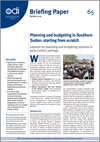 Planning and budgeting in Southern Sudan: starting from scratch