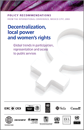 Policy recommendations from the international conference on decentralization...