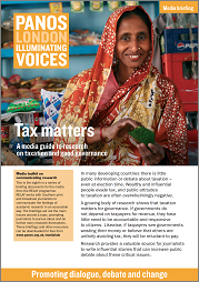 Tax matters A media guide to research on taxation and good governance