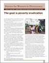 The Goal is Poverty Eradication
