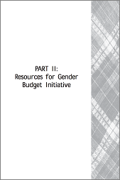 The Local Level Gender Budget Initiative in the Philippines: Resources for Gender Budget Initiative