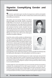 The Local Level Gender Budget Initiative in the Philippines: Vignette