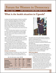 Uganda Health Sector Gender Budget Analysis 2001/2002
