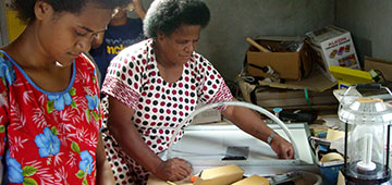 Solar engineer women in Fiji