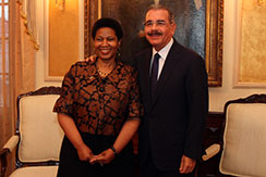 UN Women Executive Director (left) and President of the Dominican Republic (right).