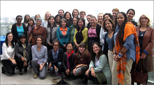 "Participants in the Expert Group Meeting on ""Structural and policy constraints in achieving the MDGs for women and girls,"" held in Mexico City, Mexico, 21–24 October 2013. (Photo: UN Women.)"