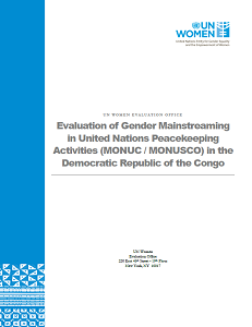 Cover page of MONUSCO Evaluation report