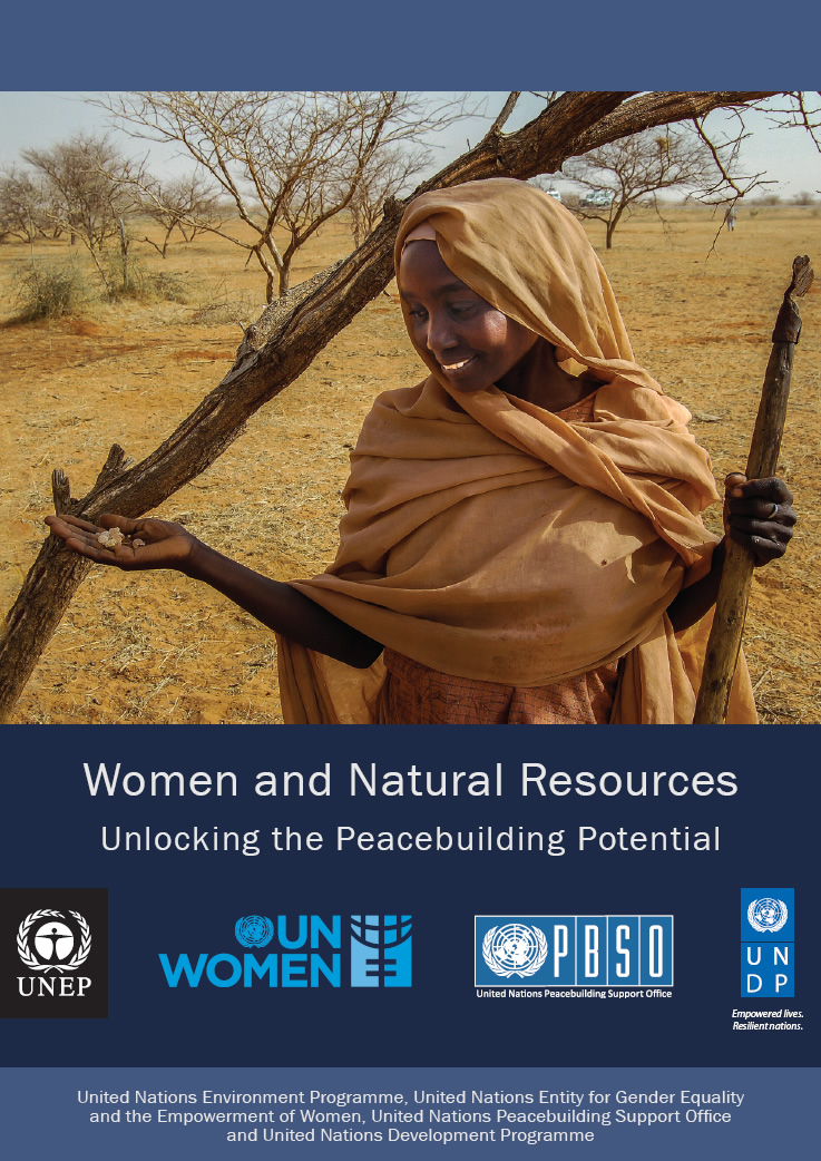 Cover of joint UN report on Women and Natural Resources