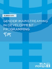 Gender Mainstreaming Issues cover page